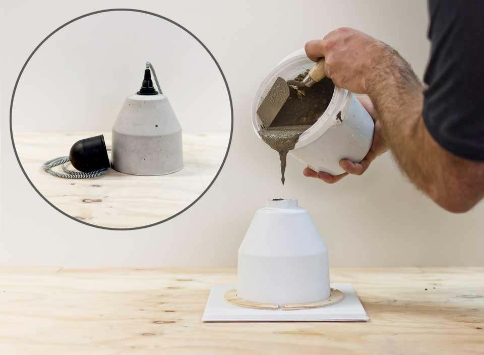 betonwerkstatt.com | DIY Betonlampe Typ2